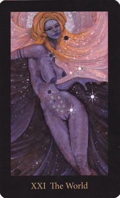 XXI Le Monde - Mary El Tarot