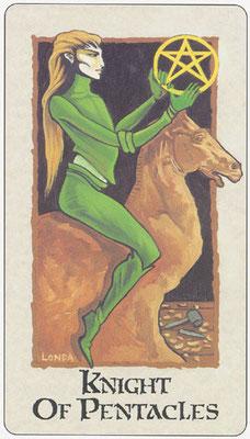 Chevalier de Deniers - Londa Tarot
