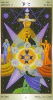 6 de Deniers - Liber T Stars Eternal Tarot