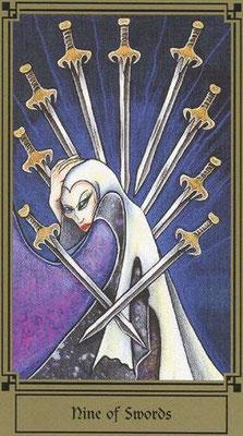9 d'Épées - Le tarot Fantastique