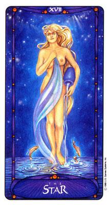 XVII L'Étoile - Le tarot Art Nouveau de Myers