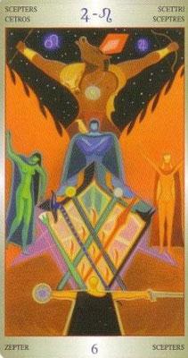 6 de Bâtons - Liber T Stars Eternal Tarot