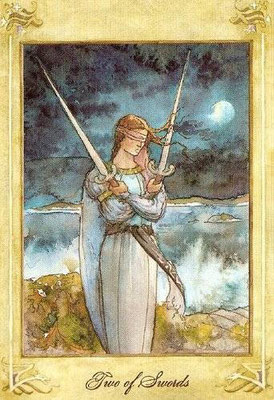 2 d'Épées - Llewellyn Tarot