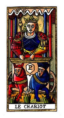 VII Le Chariot - Le Tarot de la Félicité