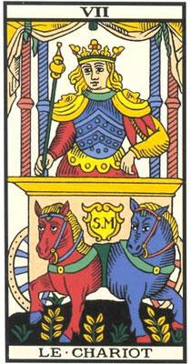 VII Le Chariot - Tarot de Marseille
