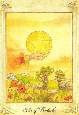 As de Deniers - Llewellyn Tarot