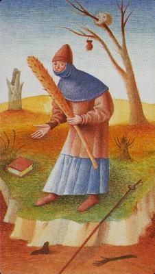 Valet de Bâtons - Le tarot Bosh