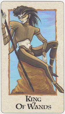 Roi de Bâtons - Londa Tarot