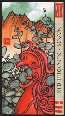 7 du Phoenix Rouge - Le Tarot Feng Shui