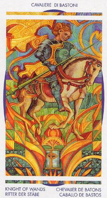 Chevalier de Bâtons - Le tarot Crystal