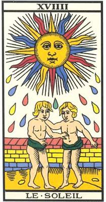 XVIIII Le Soleil - Tarot de Marseille