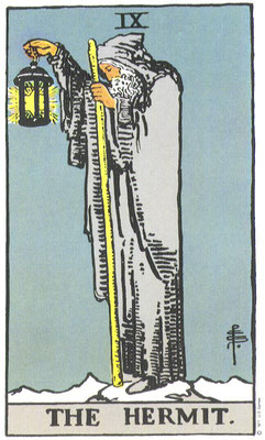 IX L'Hermite - Tarot Rider Waite Smith