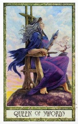 Reine d'Épées - Le tarot Druid Craft