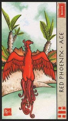 As du Phoenix Rouge - Le Tarot Feng Shui