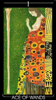 As de Bâtons - Golden Tarot of Klimt