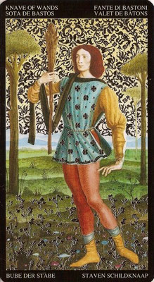 Valet de Bâtons - Tarot Doré de Botticelli