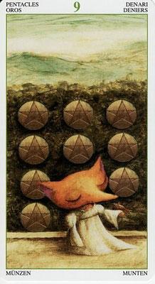 9 de Pentacles - Le Tarot de la Forêt Magique