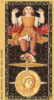 Golden Tarot of the Renaissance - As de Denier