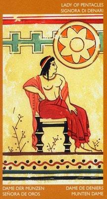 Reine de Deniers - Le tarot Étrusque