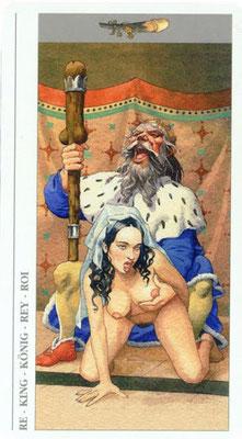 Decameron Tarot - Érotique - Roi de Bâtons