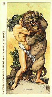 XI La Force - Le tarot Dürer