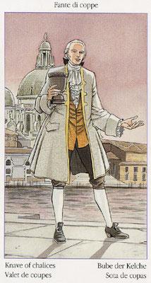 Tarot de Casanova - Érotique - Valet de Coupes