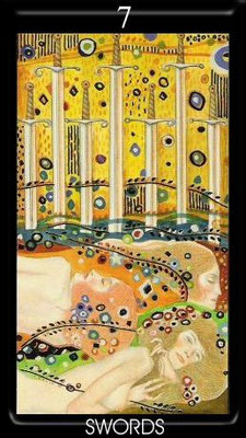 7 d'Épées - Golden Tarot of Klimt