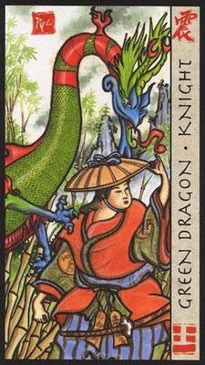 Chevalier du Dragon Vert - Le Tarot Feng Shui