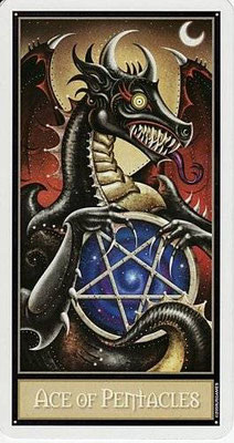 As de Pentacles - Le tarot Deviant Moon