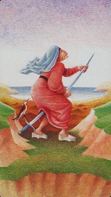 As d'Épées - Le tarot Bosh