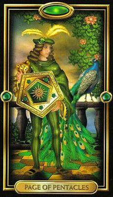 Page de Pentacles - The Gilded Tarot