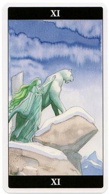 XI La Force - Le tarot de l'Enchanteresse des Rêves