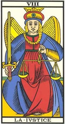 VIII La Justice - Tarot de Marseille