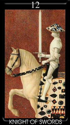 Chevalier d'Épées - Golden Tarot of Klimt
