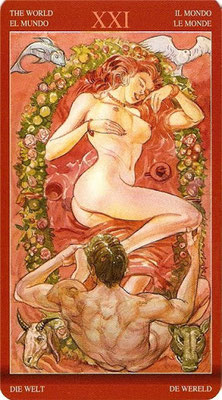 Tarot of Sexual Magic - XXI Le Monde