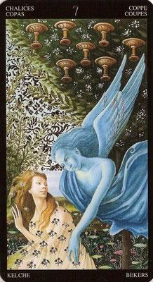 7 de Coupes - Tarot Doré de Botticelli