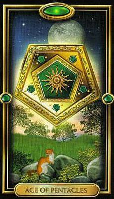 As de Pentacles - The Gilded Tarot