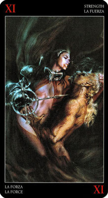 Royo Dark Tarot - Érotique - XI La Force