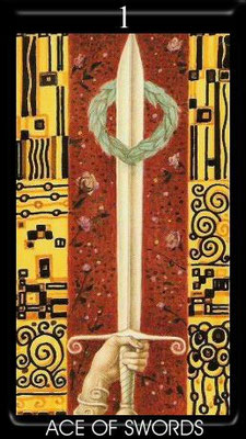 As d'Épées - Golden Tarot of Klimt