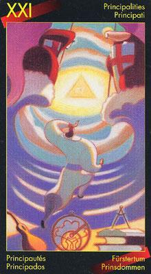 XXI Le Monde - Le tarot de Dante