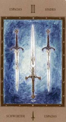 3 d'Épées - Labyrinth Tarot