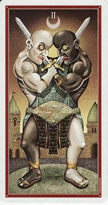 2 d'Épées - Le tarot Deviant Moon