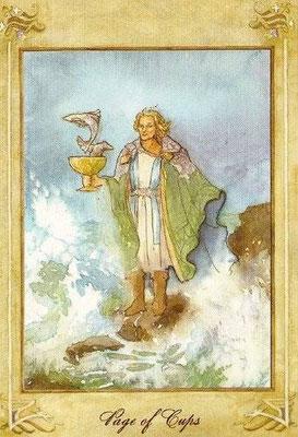 Valet de Coupes - Llewellyn Tarot