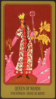 Reine de Bâtons - Le tarot Egorov