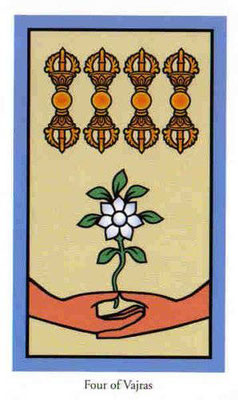 4 de Vajras - Le tarot de Bouddha