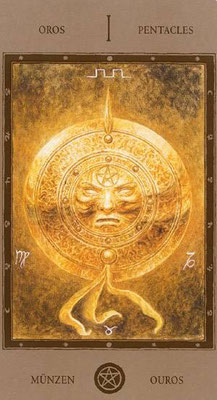As de Deniers - Labyrinth Tarot