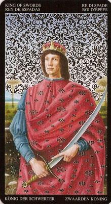 Roi d'Épées - Tarot Doré de Botticelli