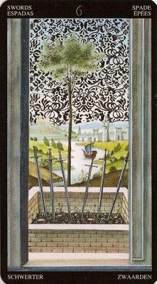 6 d'Épées - Tarot Doré de Botticelli