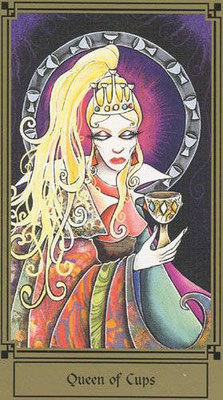 Reine de Coupes - Le tarot Fantastique