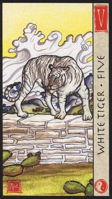 5 du Tigre Blanc - Le Tarot Feng Shui